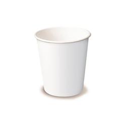 Bicchiere cappuccio monouso in cartone bianco cl 36