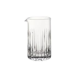 Mixing glass con decoro a intagli verticali in vetro cl 65