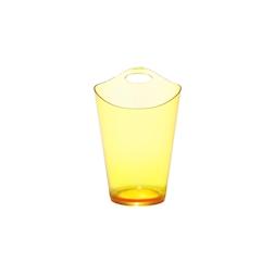 Secchiello Salsa in plastica giallo satinato cm 28x19