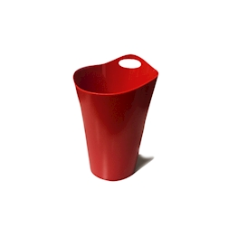 Secchiello Salsa in plastica rosso cm 28x19