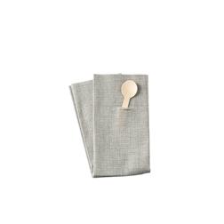 Tovagliolo porta posate Easy piegato 1/8 in cellulosa grigio fumo cm 40x40