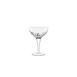 Coppa Champagne Mixology Luigi Bormioli in vetro decorato cl 22,5