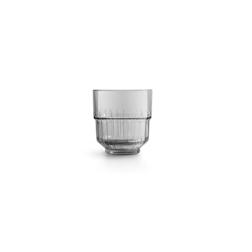 Bicchiere Linq dof impilabile in vetro grigio fumé cl 35,5