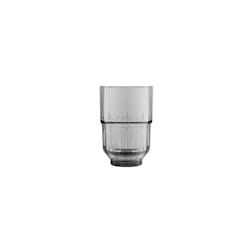 Bicchiere Linq beverage impilabile in vetro grigio fumé cl 35,5