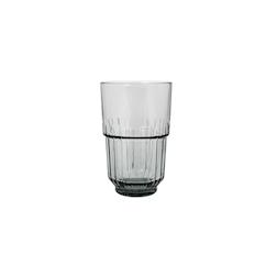 Bicchiere Linq beverage impilabile in vetro grigio fumé cl 41,4