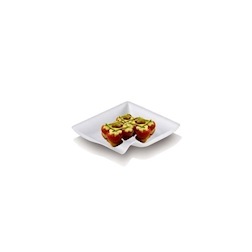 Piattino biodegradabile in polpa di cellulosa cm 8x8
