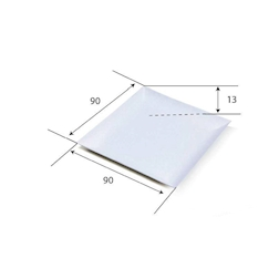 Piattino biodegradabile Komodo in polpa di cellulosa naturale cm 9x9