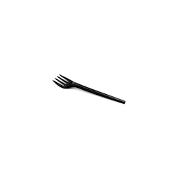 Forchetta biodegradabile Smart in PLA nero cm 16,5