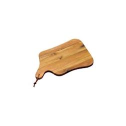 Tagliere rettangolare con manico in legno di acacia cm 35x22x1,8