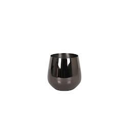 Bicchiere Luxury in acciaio inox nero cl 50
