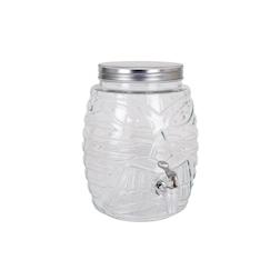Vaso Tiki con tappo e rubinetto in vetro lt 5,5