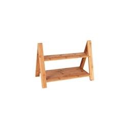 Alzata 2 ripiani in legno cm 39,5x20x28