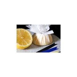 Lemon Wrap con laccetti in cotone bianco
