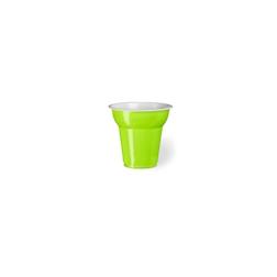 Bicchiere monouso Fiesta in plastica verde mela cl 7