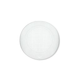Piatto piano monouso in pet trasparente cm 20,6