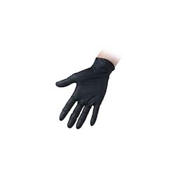 Guanti monouso Nitril Black senza polvere in nitrile nero taglia S