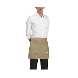 Grembiule banconiere con tasca in poliestere e cotone kaki cm 40x70