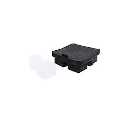 Stampo ghiaccio 4 cubi in silicone nero cm 4,5x4,5