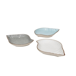 Piatto conchiglia Mediterraneo in ceramica colorata cm 23x17x3
