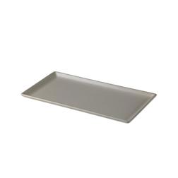 Vassoio rettangolare in melamina grigio chiaro cm 27,8x14,3