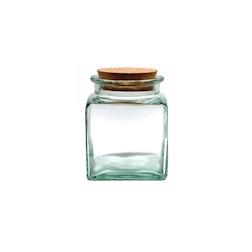 Barattolo quadro Puchades in vetro riciclato con tappo in sughero kg 1,260