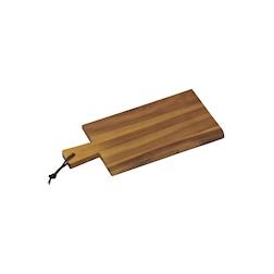 Tagliere rettangolare con manico in legno di acacia cm 29x14