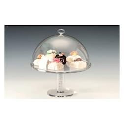 Alzata con cupola tonda in policarbonato trasparente cm 32,5x32