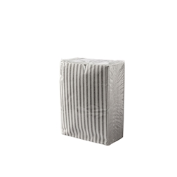 Tovagliolo Capri in cellulosa bianca e grigia cm 30x40