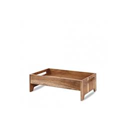 Alzata Buffetscape Churchill in legno di acacia marrone cm 42,1x25,8x13,2