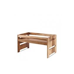 Alzata Buffetscape Churchill in legno di acacia marrone cm 44,5x25,8x23,5