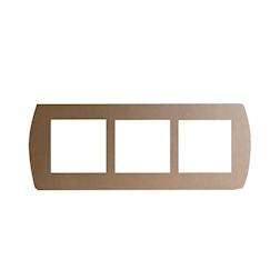 Vassoio 3 scomparti  per piattini monouso in cartone marrone cm 48,5x20