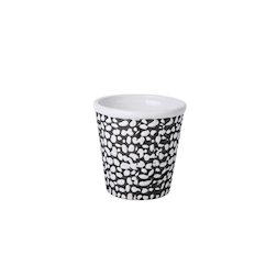 Tiki Mug Reptil in porcellana bianca e nera cl 43