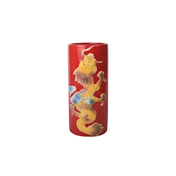 Tiki Mug Dragon in porcellana rossa con decoro cl 50