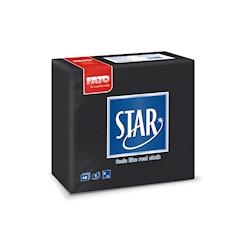 Tovagliolo Star 2 veli in cellulosa nero cm 38x38