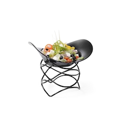 Alzata buffet rotonda astratta Hendi in acciaio e gomma antiscivolo nera cm 20x20