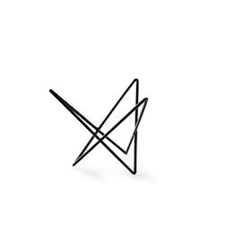 Alzata buffet triangolare astratta Hendi in acciaio e gomma antiscivolo nera cm 26,5x23x20