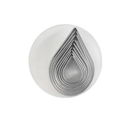 Set di stampi a goccia in acciaio inox in misure assortite