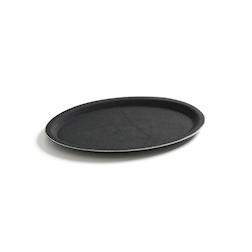 Vassoio ovale antiscivolo Hendi in fibra di vetro nero cm 23x16