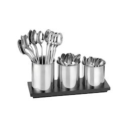 Set 3 porta cucchiaini con vassoio