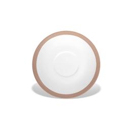 Piatto per tazza colazione CoffeeCo in porcellana tortora cm 16