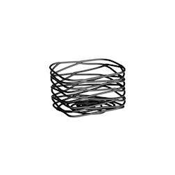 Porta bustine in acciaio nero cm 8x6x5