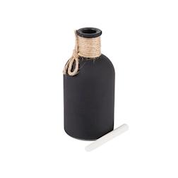 Bottiglia lavagna in vetro nero cm 13,5
