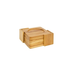 Sottobicchiere quadro in legno di bamboo cm 10x10