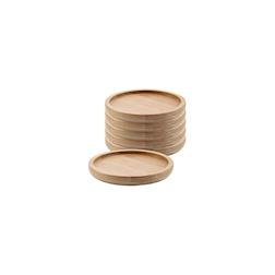 Sottobicchiere tondo in legno di bamboo cm 10