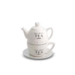 Tea for One La Cuisine in porcellana bianca cl 35