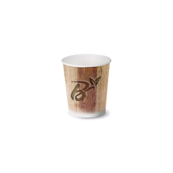 Bicchiere caffè Palm Leaf biodegradabile in carta cl 9