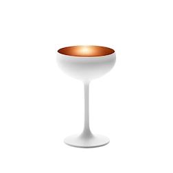 Coppa champagne Olympic Stolzle in vetro bicolore bianco e bronzo cl 23