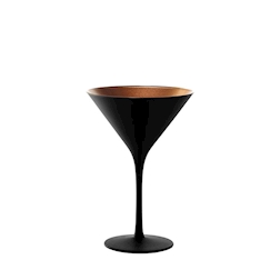 Coppa cocktail Olympic Stolzle in vetro bicolore nero e bronzo cl 24