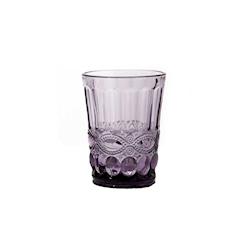 Bicchiere Solange in vetro viola cl 26,5