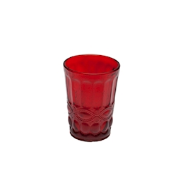 Bicchiere Solange in vetro rosso cl 26,5